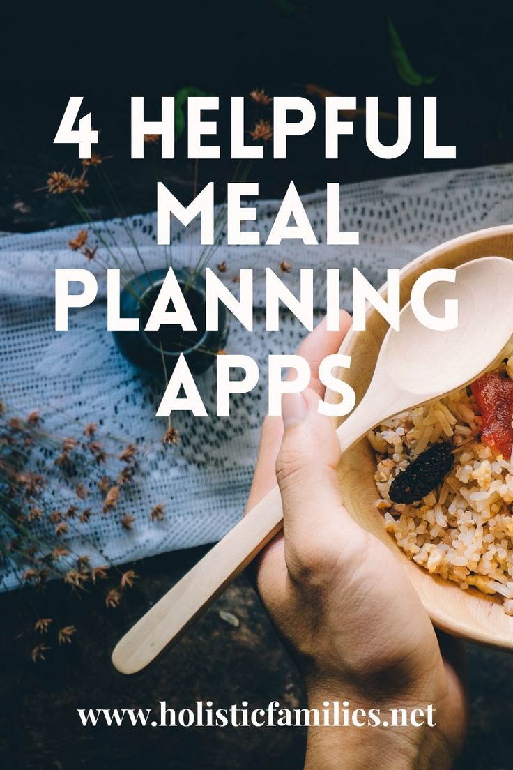 Does cooking dinner totally stress you out? These 4 meal planning apps have helped me save time cooking health, kid-friendly meals.