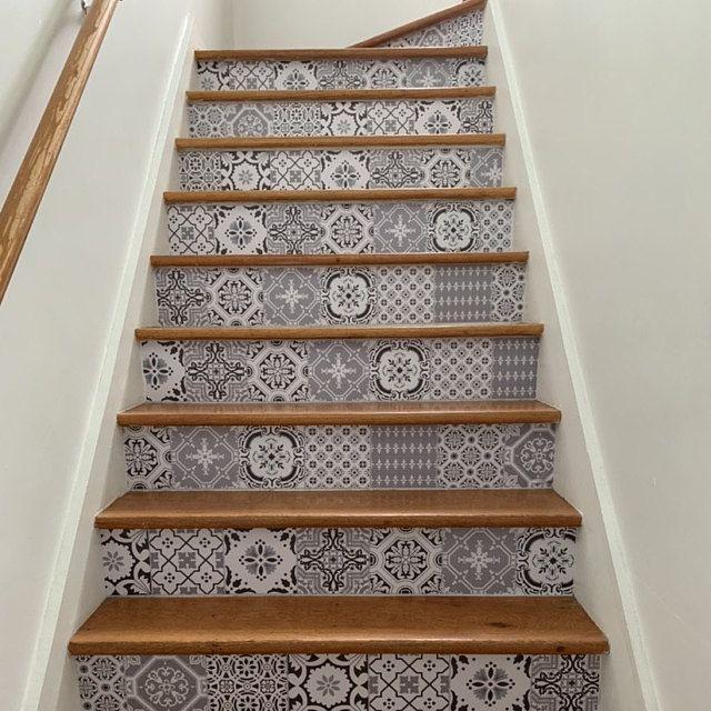15steps Stair Riser Vinyl Strips Amovable Sticker Peel Stick
