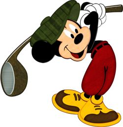 Mickey Golfing
