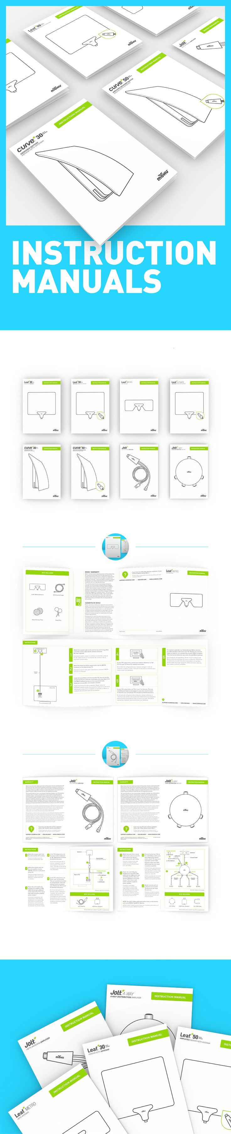 Instruction manuals created for Mohu product line.