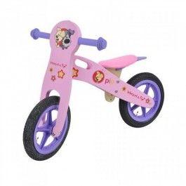 Deze vrolijke en stoere houten loopfietsjes van Woezel en Pip zijn ideaal voor het leren lopen van uw kindje. De fietsjes hebben rubberen wieltjes, rubberen handvaten en een zacht zitje en zijn vrolijk versierd.