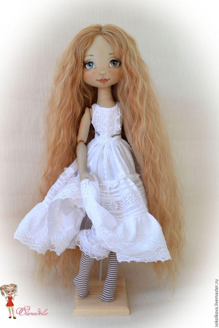 Купить Сашенька. - кукла, кукла в подарок, текстильная кукла, авторская работа, бохо, деревенский стиль
