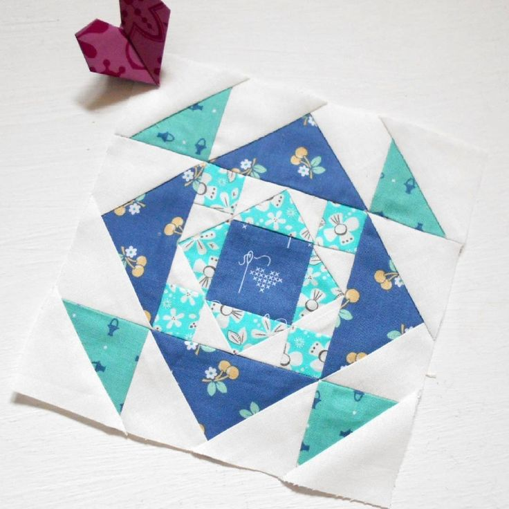 The Splendid Sampler Block 100 - Centered.  The sew-along ends with a beautiful patchwork block designed by Kate Spain.