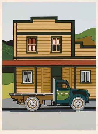"""Robin White, """"Mangaweka"""", 1974. Te Puna O Waiwhetu Christchurch Art Gallery, NZ"""