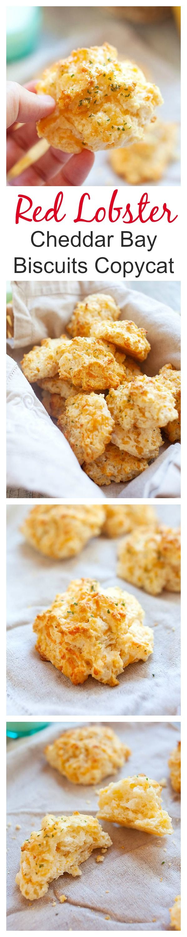 Red Lobster cheddar bay biscuits copycat recipe, close to the original Red Lobster cheddar bay biscuits. Crumbly, cheesy, and the best biscuits ever   rasamalaysia.com