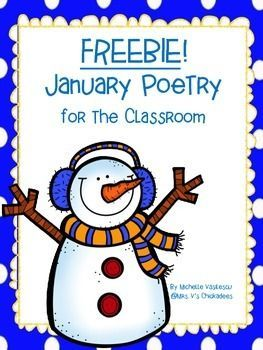 FREEBIE! January Poetry With Sight Word Practice..This unit provides you with 5 January inspired poems. Each poem comes with 3 different versions. -the poem with a space for illustrations -the poem in large print -the poem with the opportunity for kids to find and circle their sight words