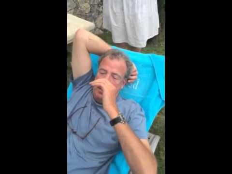 Jeremy Clarkson gets ice bucketed! Priceless!!! Make sure little ears aren't in the room...