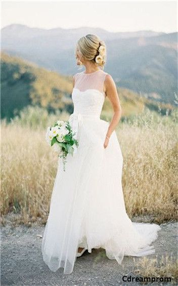chiffon wedding dress #chiffon #wedding #dresses