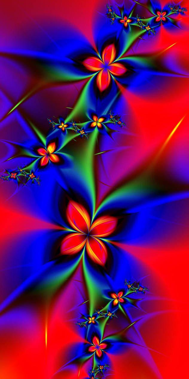 Red Flowers By Esmeraldeyes Butterfly Wallpaper Backgrounds Blue Roses Wallpaper Flowery Wallpaper