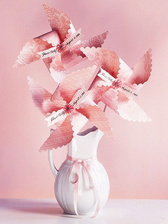 20 best images about pinwheel party on pinterest for Pretty wedding decorations