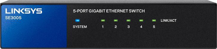 Linksys - 5-Port Gigabit Ethernet Switch - Black/Blue