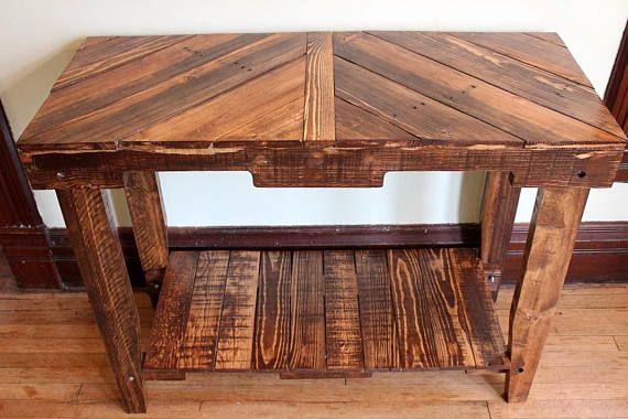 Plataforma de madera mesa consola mesa de sofá muebles de