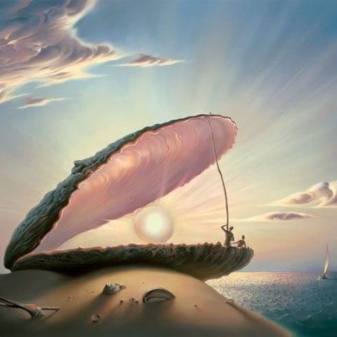 """""""When you #arise in the #morning, think of what a #precious #privilege it is to be #alive—to breathe, to think, to enjoy, to love—then make that #day count!"""" ― Steve Maraboli ❇  Vladimir Kush  #illustration #artwork #creative #drawing #painting #art #surreal #surrealism #surrealart #cretivity #mornings #sunrise"""