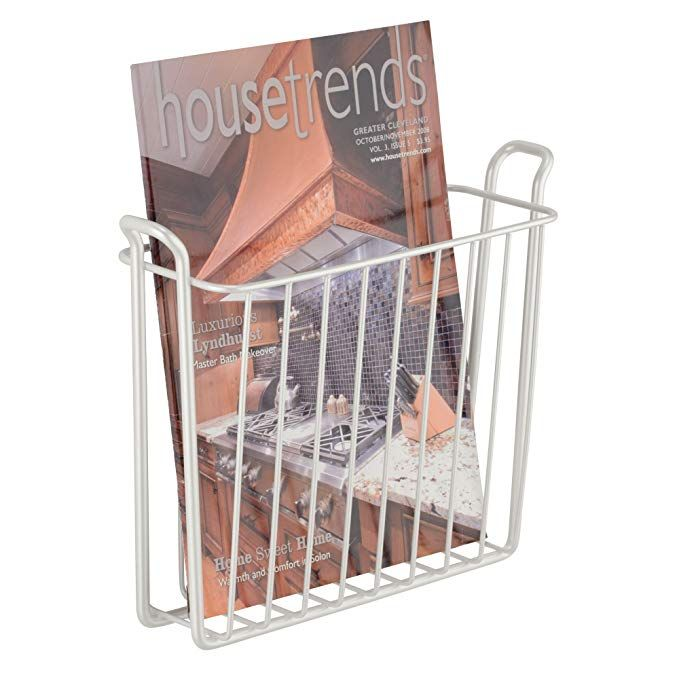 Amazon Com Mdesign Decorative Modern Wall Mount Magazine Holder Organizer Space Saving Compact Rack Fo Magazine Holders Mdesign Bronze Bathroom Accessories