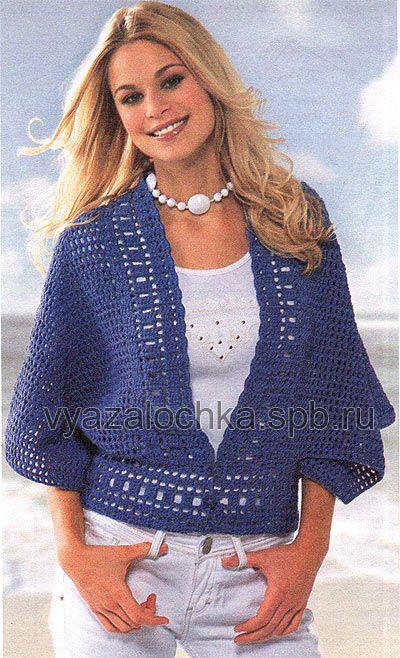 Мне очень понравился этот летний пуловер с рукавом «летучая мышь». Интересно, что по своей выкройке этот пуловер напоминает пончо. Пуловер вяжется крючком.Мне показалось, что было бы инт…
