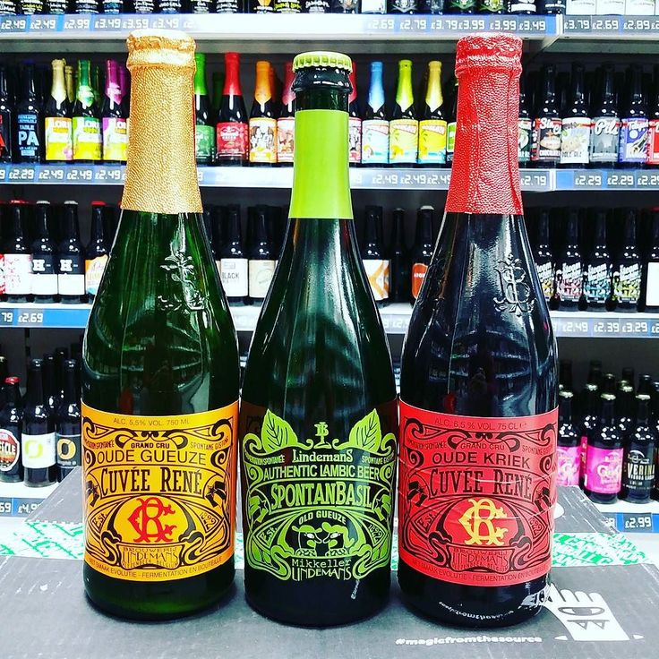 New Beers. Oude Gueuze and Oude Kriek Cuvee Rene from @LindemansBeers join Spotan Basil on the shelves
