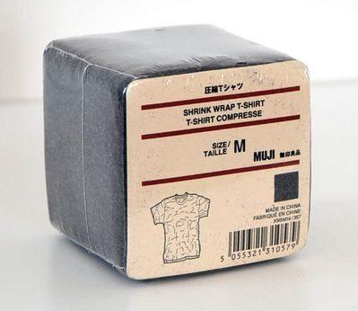 Fashion & Apparel | Muji vacuum-packed t-shirt packaging