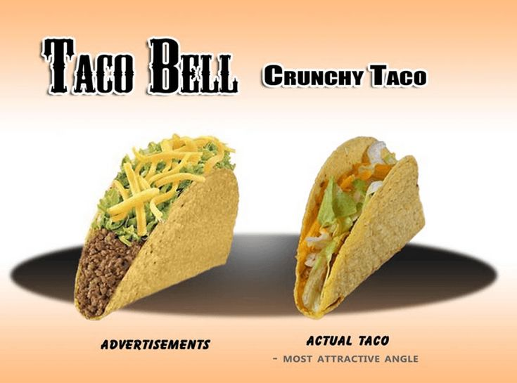 Why does the real taco have to be so much smaller? Fast Food Advertising Versus Reality • Page 5 of 6 • BoredBug
