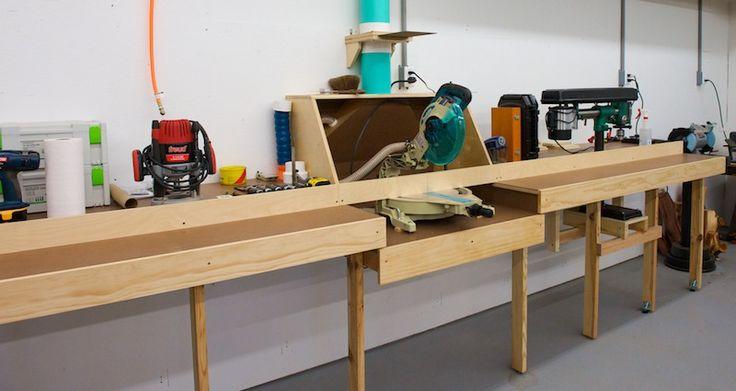 Miter Saw Station Garage Shop Ideas Pinterest Sheds