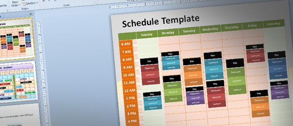 free editable schedule template for powerpoint  meeting