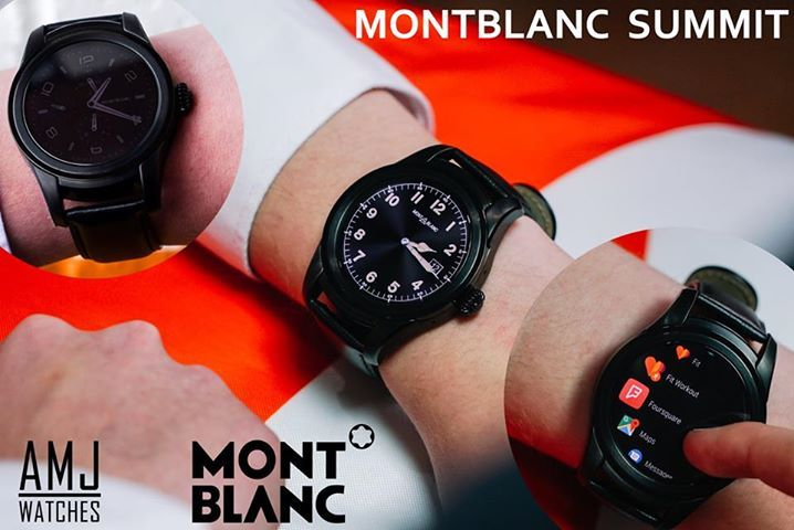#AMJ #NEWRELEASE ...  MONTBLANC SUMMIT SMARTWATCH  AVAILABLE WITH FREE 0% FINANCE FROM £28.69 PER MONTH  12/24 MONTH PLANS ... FREE 0% FINANCE ... FREE DELIVERY ...  MONTBLANC SUMMIT SMARTWATCH The first luxury smartwatch combining elegant Swiss watchmaking codes with the latest technologies. Classic vintage design inspired by the award-winning Montblanc 1858 collection. 46 mm case size and only 12.5 mm thick. The case, bezel and crown made of black PVD-coated stainless steel, with a…