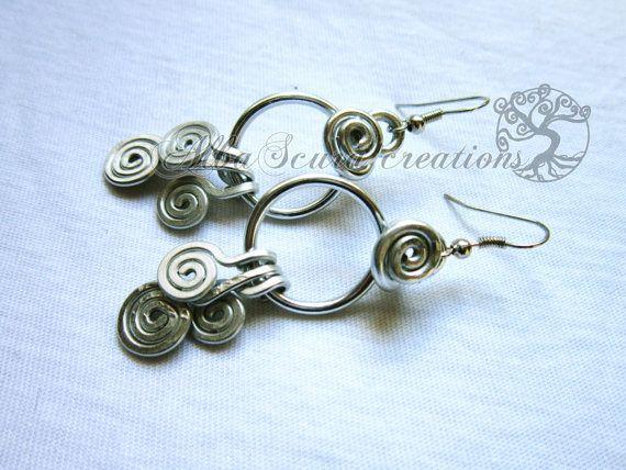 Spiral earrings di AlbaScuracreation su Etsy