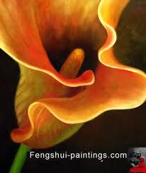 Realist Painting Large Up Close Of One Type Flower