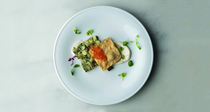 Spanish Mackerel Tartare for a Maille Mediterranean affair!