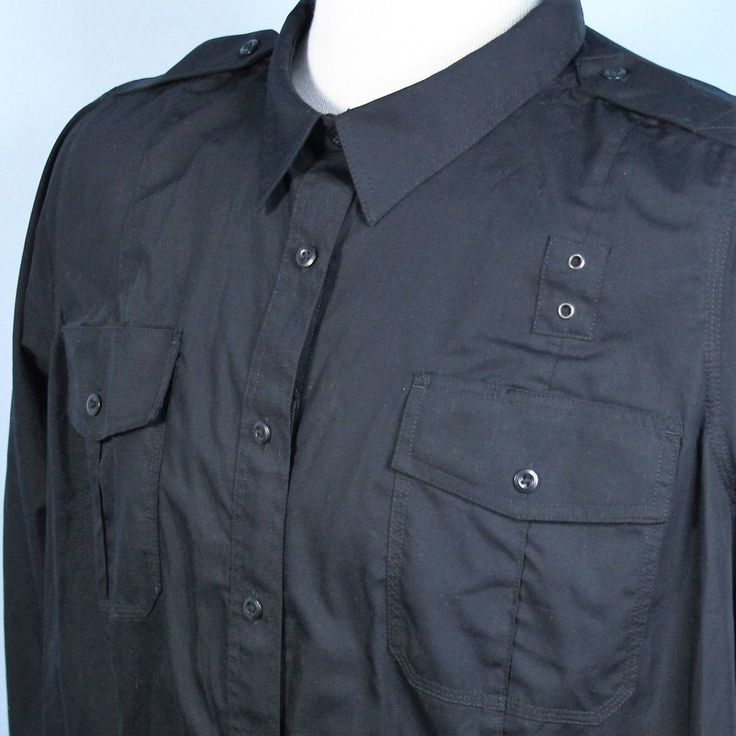 5.11 Tactical Black 1/2 Zip Concealed Carry Police Shirt Womens 4X 28W Tall EXC…