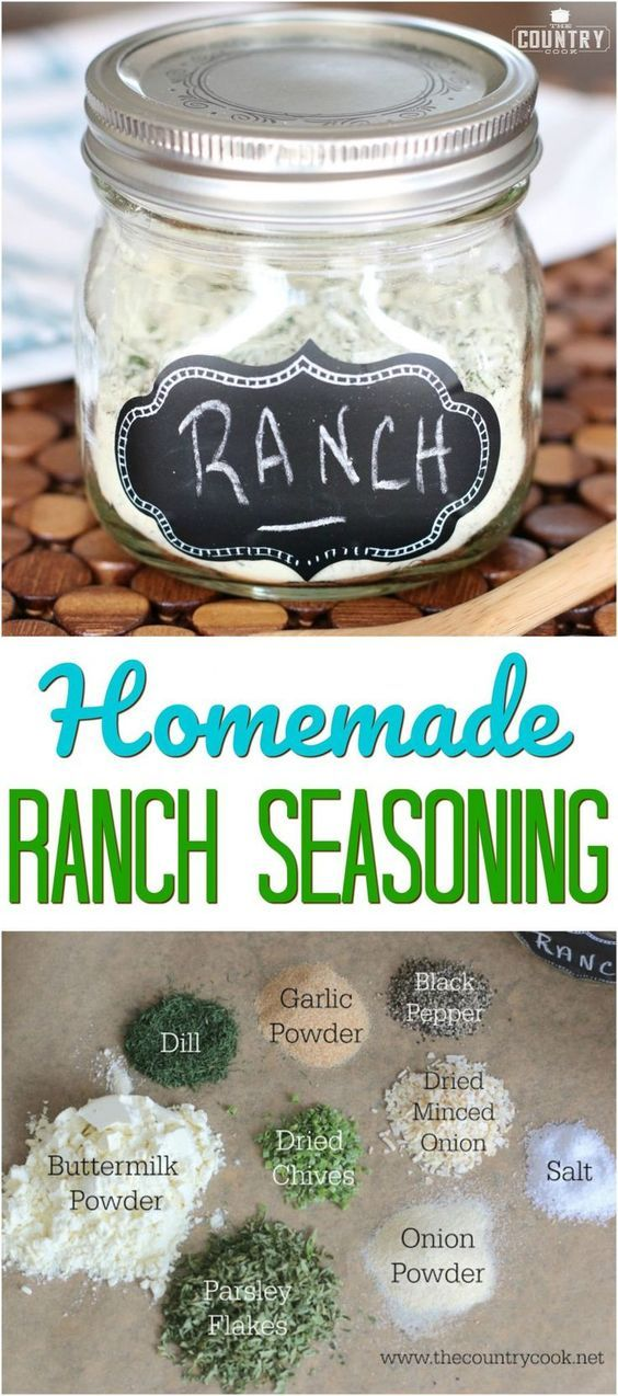Homemade Ranch Seasoning Mix recipe from The Country Cook