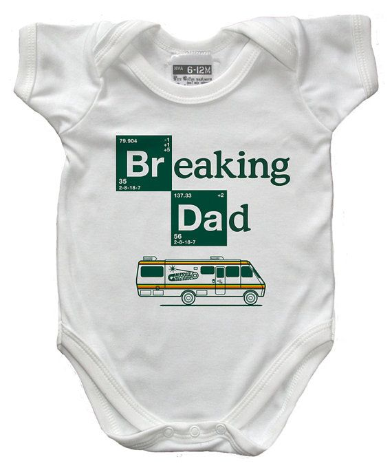 Breaking Dad babygrow  onesie  size by NippazWithAttitude on Etsy, £16.99