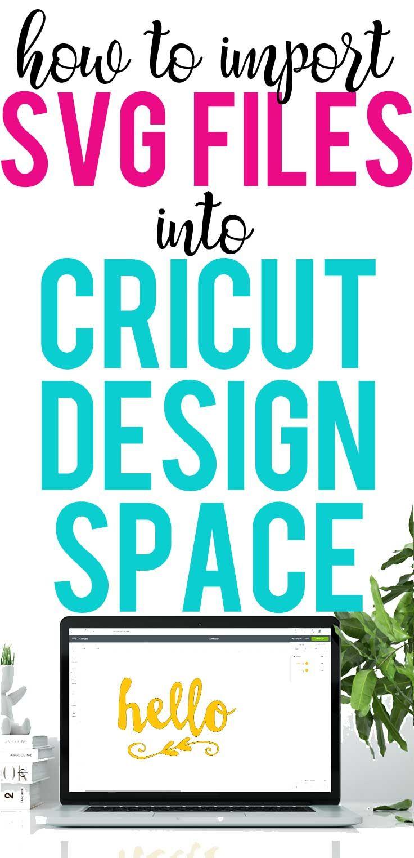 How to Import SVG files into Cricut Design Space Cricut