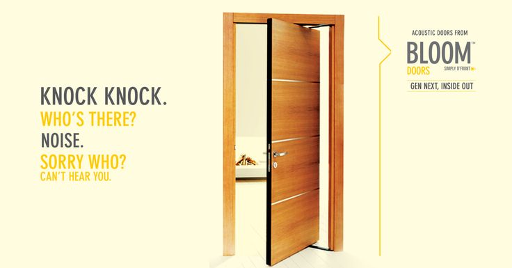 Tired of having to raise your voices in office meetings to talk over the constant outside hubbub? Opt for Acoustic Doors from Bloom for your workspaces; visit our website to check out our extensive and stylish collection: http://www.bloomdekor.com/products/doors/