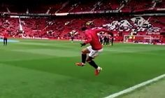 Quality Memphis Depay take down during Man United warm-up v Arsenal (Video)