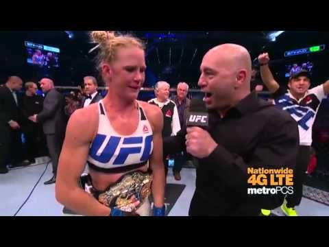 UFC (Ultimate Fighting Championship): UFC 193: Holly Holm Octagon Interview