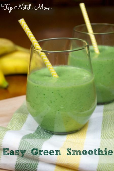 Easy Green Smoothie via Top Notch Mom Blog as seen on Juggling Act Mama http://jugglingactmama.com/2014/04/easy-green-smoothie.html#comment-23746