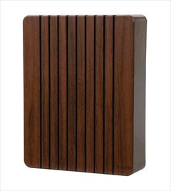 nutone la120wl walnut wood finish wired two note wired door chime at the