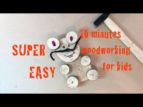 10 minut práce se dřevem pro nejmenší. Ukážeme jak udělat snadno dřevěného medvídka. - YouTube