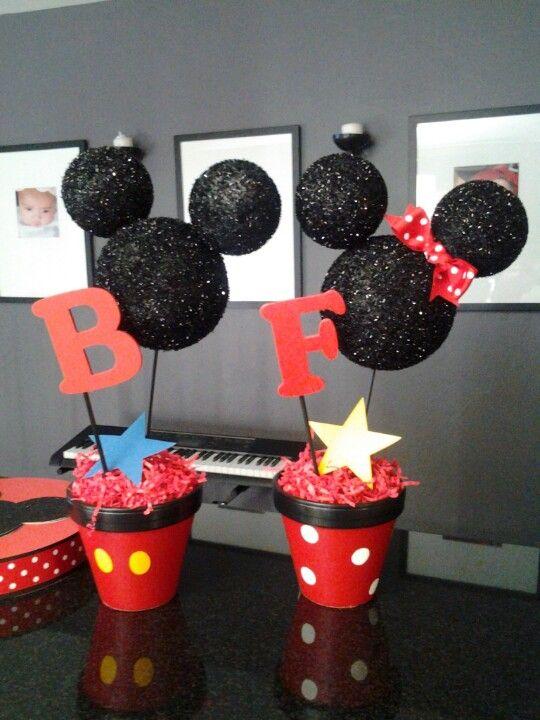 Mickey  Minnie centerpieces
