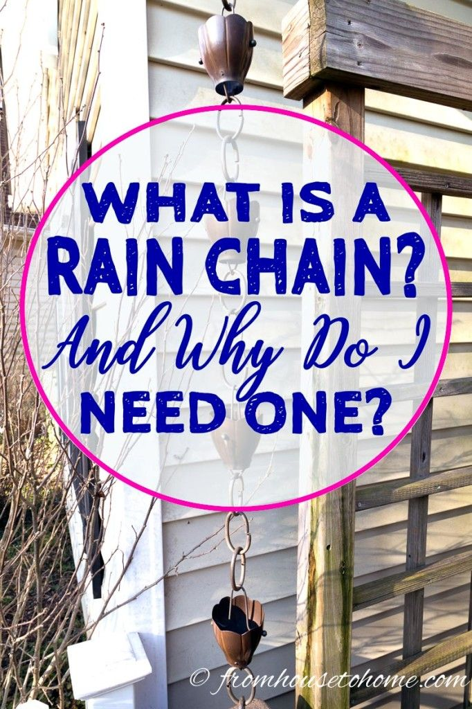 These copper rain chain ideas are GREAT! I love all the pictures showing what they look like on houses and how the installation on the gutter. #RainChains #RainChainInstallation