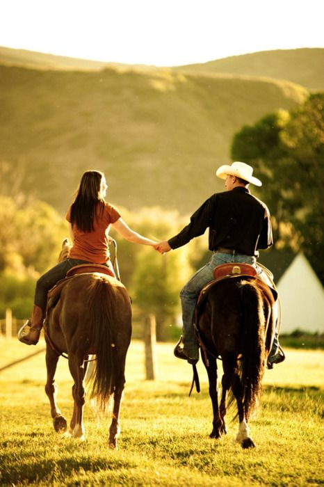 i want a picture like this: holding hands riding, adorable.
