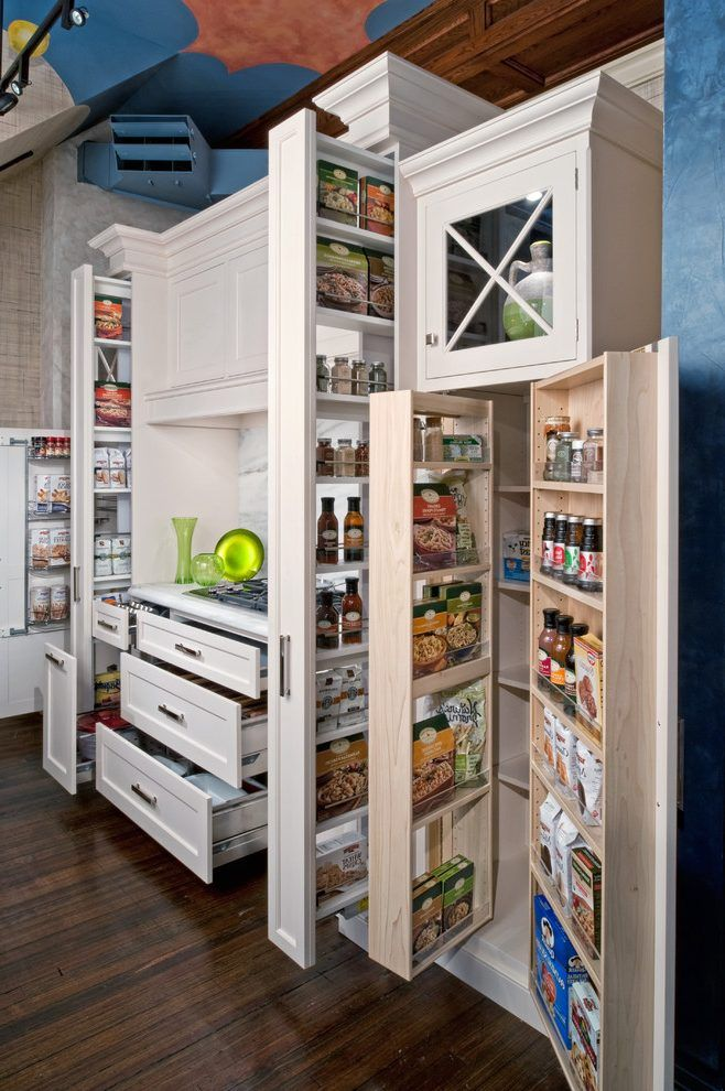 Tall Slim Storage Ideas Kitchen Traditional With Glass Cabinet Traditional Food Storage Space Saving Kitchen Kitchen Cabinet Storage Small Kitchen Organization