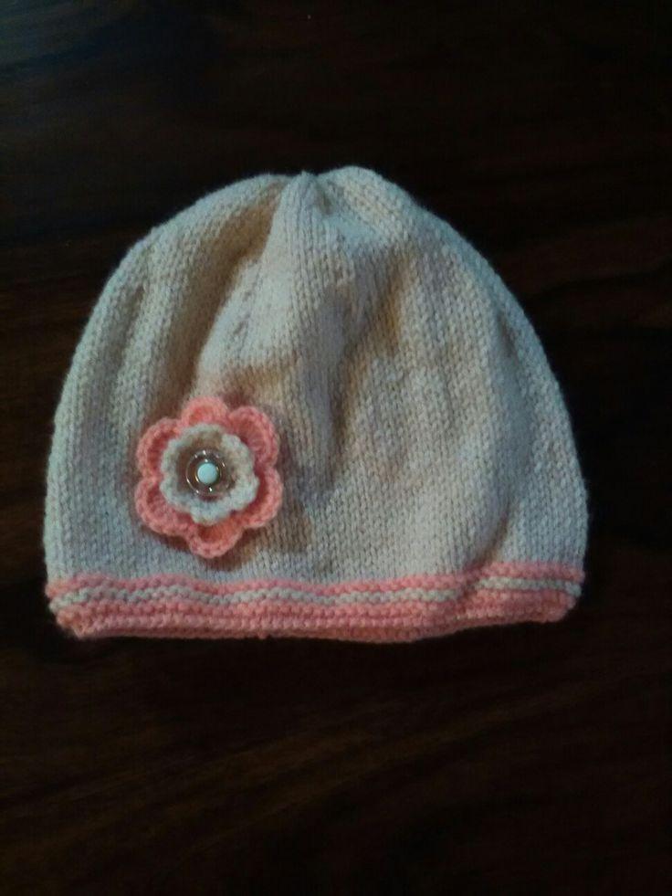 Knitting baby beanie
