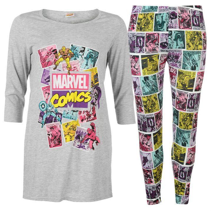 Ladies Official Marvel Comics Pyjamas Marvel pajamas