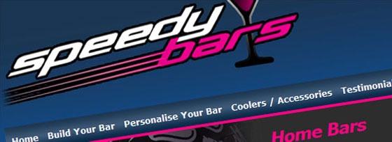 Speedy Bars, Brochure Style, website design