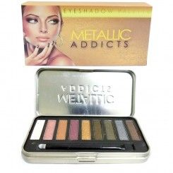Saffron Addicts Eyeshadow Palette, Metallic