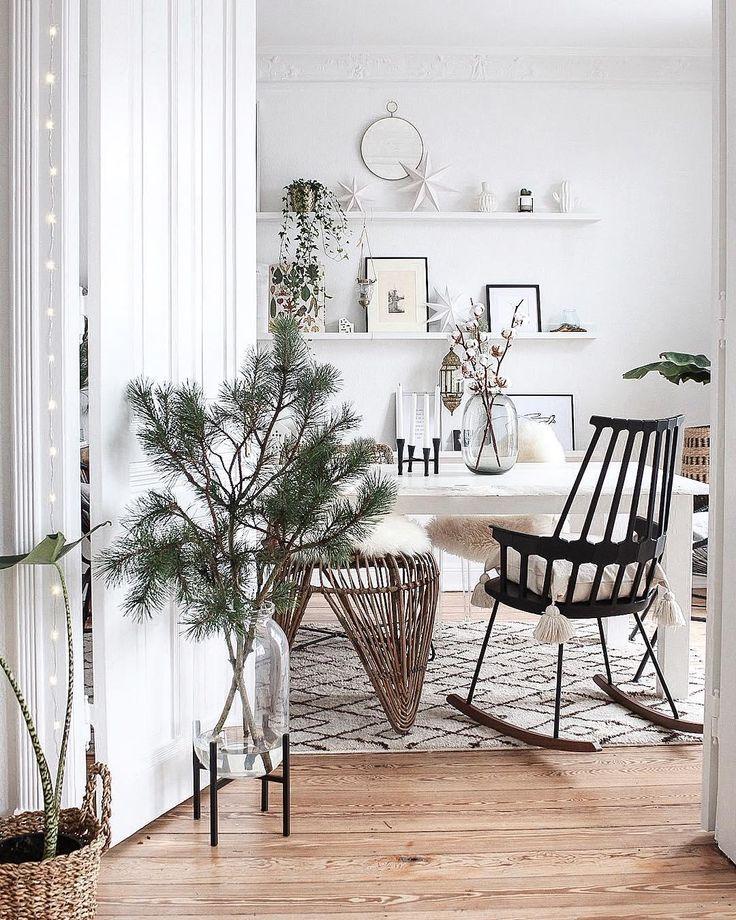 Boho trifft Scandi! In diesem schönen Speisesaal in natürlicher, skandinavischer …   – ☆ Weihnachtliche Dekoration ☆