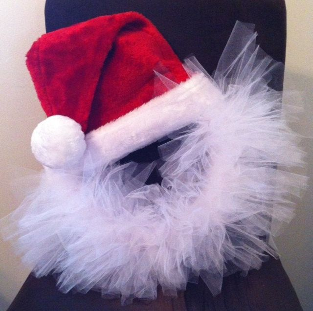 Hats christmas decorations front doors tulle wreaths hats tulle