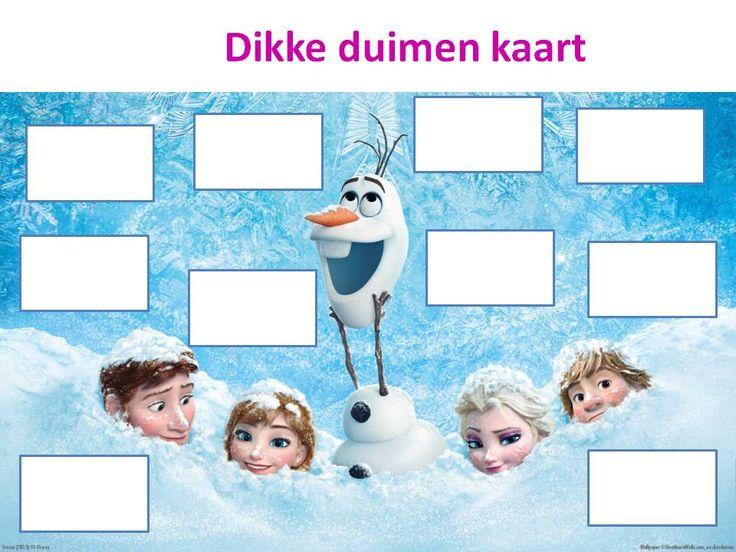 In deze tijd mag deze beloningskaart natuurlijk niet ontbreken. De Frozen dikke duimen kaart. Hier zal hij zeker succesvol zijn.