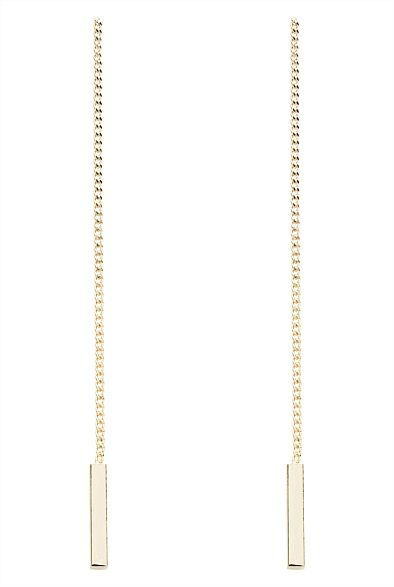 Bar Drop Earrings Gold is classic, but this is a definite modern pair of earrings #WITCHERYSTYLE #DROPEARRING